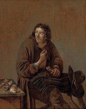 Abraham Diepraam - A cobbler at work.