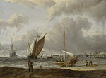 Abraham Storck - Fishing Boats in a Storm off the Dutch Coast at Den Helder.jpg