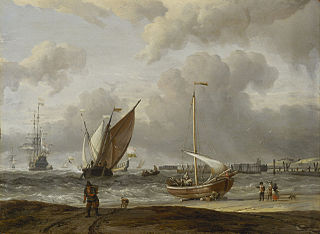 Fishing Boats in a Storm off the Dutch Coast at Den Helder
