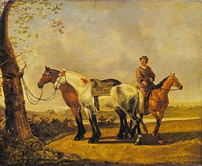 Horses Tied to a Tree