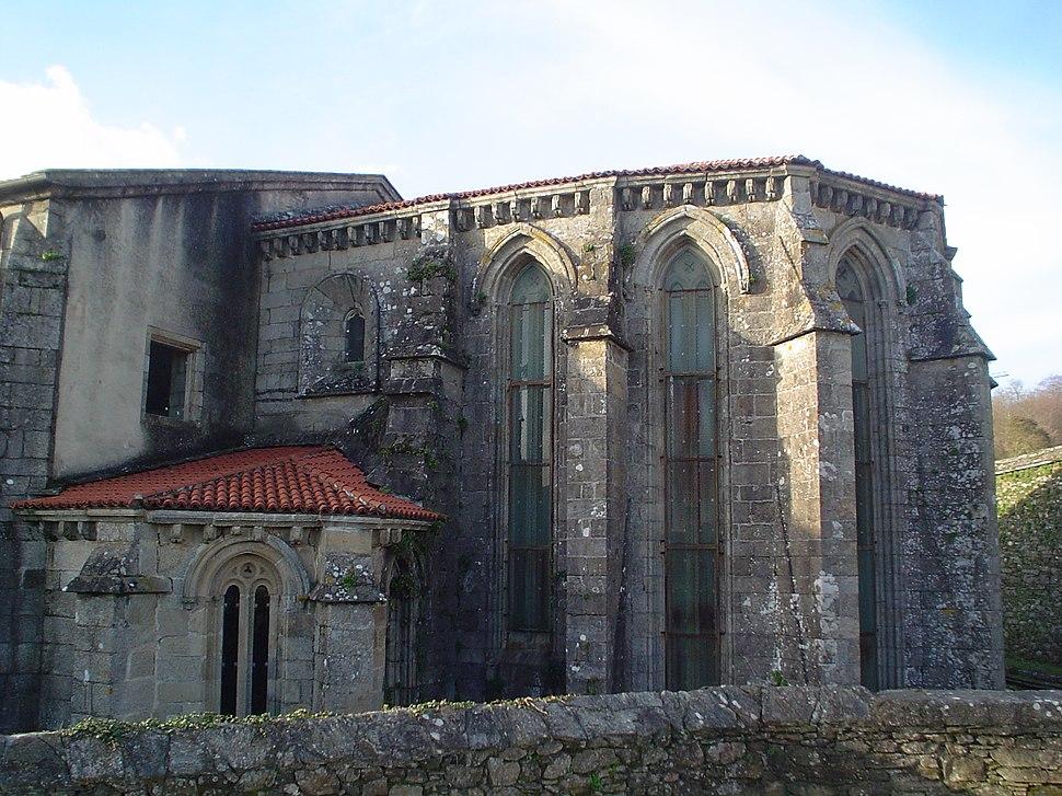 Ábsida gótica da igrexa.