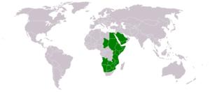 Senegalia mellifera - Image: Acacia mellifera range map