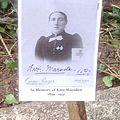 Ad-hoc memorial post on grave.jpg