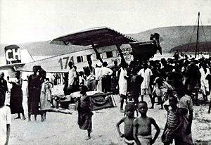 Walter Mittelholzer - Ad Astra Aero Dornier Merkur (CH 191) piloted by Mittelholzer in Kigocna, Kenya (1927)