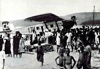 Walter Mittelholzer - Ad Astra Aero Dornier Merkur (CH-171) piloted by Mittelholzer in Kigocna, Kenya (1927)