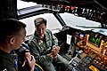 Adm. Mark Ferguson is briefed on the capabilities of the P-3C Orion. (22124323744).jpg
