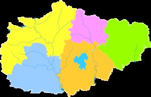 Jincheng - Image: Administrative Division Jincheng