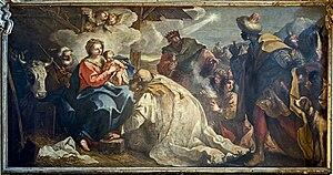 Niccolò Bambini - Image: Adorazione dei Magi Niccolò Bambini 1717 San Zaccaria