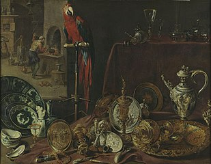 Still life with parrot