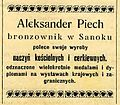 Advertisement of Aleksander Piech (1910).JPG