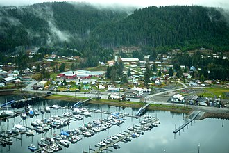Hoonah, Alaska - Aerial photo of Hoonah