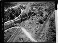 Aerial view of bridge - Baltimore and Ohio Railroad, Baltimore Skewed Thru-Truss Bridge, Salamanca, Cattaraugus County, NY HAER NY,5-SAL.V,1-1.tif