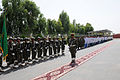 Afghan National Army soldiers, doctors and nurses stand in formation to greet Gen. Mohammad Wardak, not shown, the surgeon general for the Afghan National Army, as he visits the Kandahar Regional Medical 130819-A-VM825-029.jpg