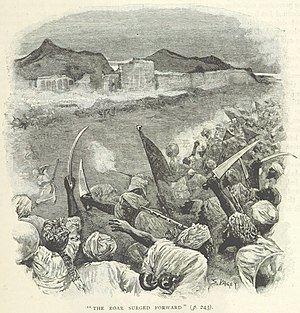 Siege of the Sherpur Cantonment - Image: Afghan charge at Sherpur Cantonment