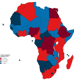 Current Map Of Africa Countries.List Of African Countries By Population Wikipedia