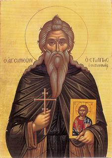 Symeon Stylites of Lesbos Byzantine saint