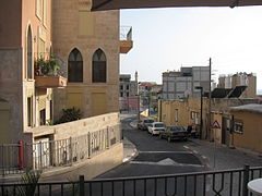 A typical Ajami street. By Ori~ (Own work) [Attribution], via Wikimedia Commons