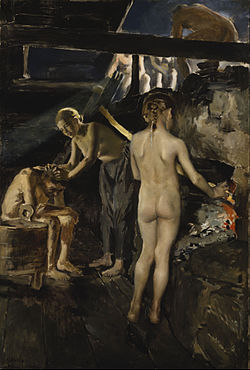 Akseli Gallen-Kallela - In the Sauna - Google Art Project.jpg