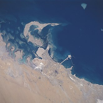 Jubail - Jubail from space, June 1996