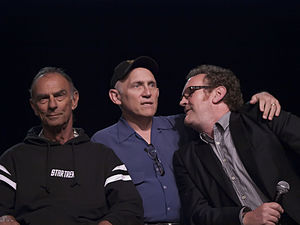Colm Meaney - Meaney (right) with Deep Space 9 co-stars Marc Alaimo (left) and Armin Shimerman (middle)