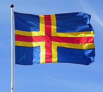 History of the Åland Islands - Åland flag