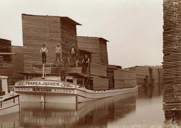 Albany Lumber Yard 1870s