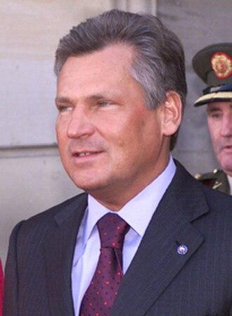 Polish presidential election, 1995 - Image: Aleksander Kwaśniewski 2003