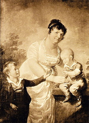 Aleksander Lauréus - Portraits of artist's stepmother Mariana Juliana Winqvist and her two sons by Aleksander Lauréus, Finnish National Gallery