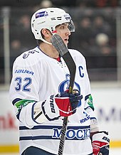 Ovechkin with Dynamo Moscow in 2012. He played 31 games in the KHL during  the 2012–13 NHL lockout. bc5e339c0c9