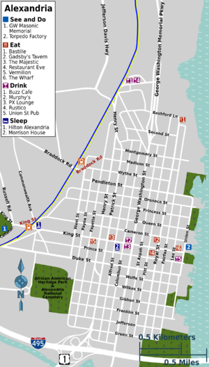 Old Town Alexandria Map Alexandria (Virginia) – Travel guide at Wikivoyage Old Town Alexandria Map