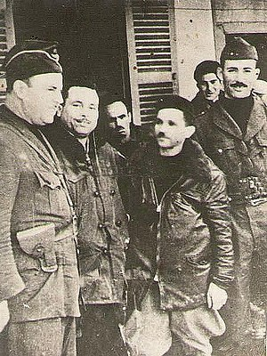 Saïd Mohammedi - Saïd Mohammedi (on the left) with other FLN militants