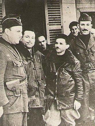 Saïd Mohammedi - Saïd Mohammedi (on the left) with other FLN militants