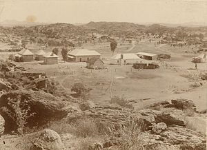 Australian Overland Telegraph Line - Repeater station at Alice Springs, c. 1880