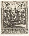 Allegorische voorstelling met prinsen van Oranje Willem I en Maurits Titelpagina voor Gregorio Leti, Teatro Belgico, 1690, RP-P-1982-1239.jpg