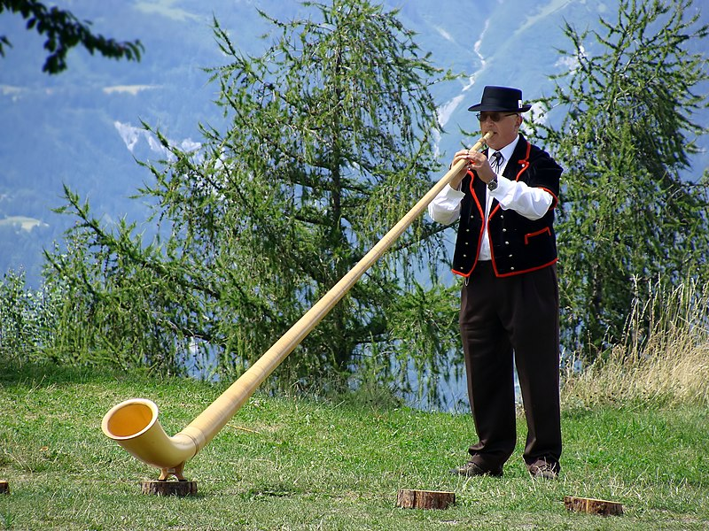 Fichier:Alphorn player in Wallis.jpg