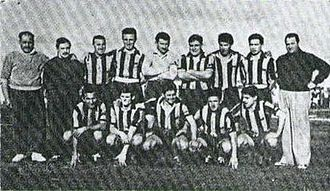 Club Almirante Brown - The squad that won its first official title in 1956.