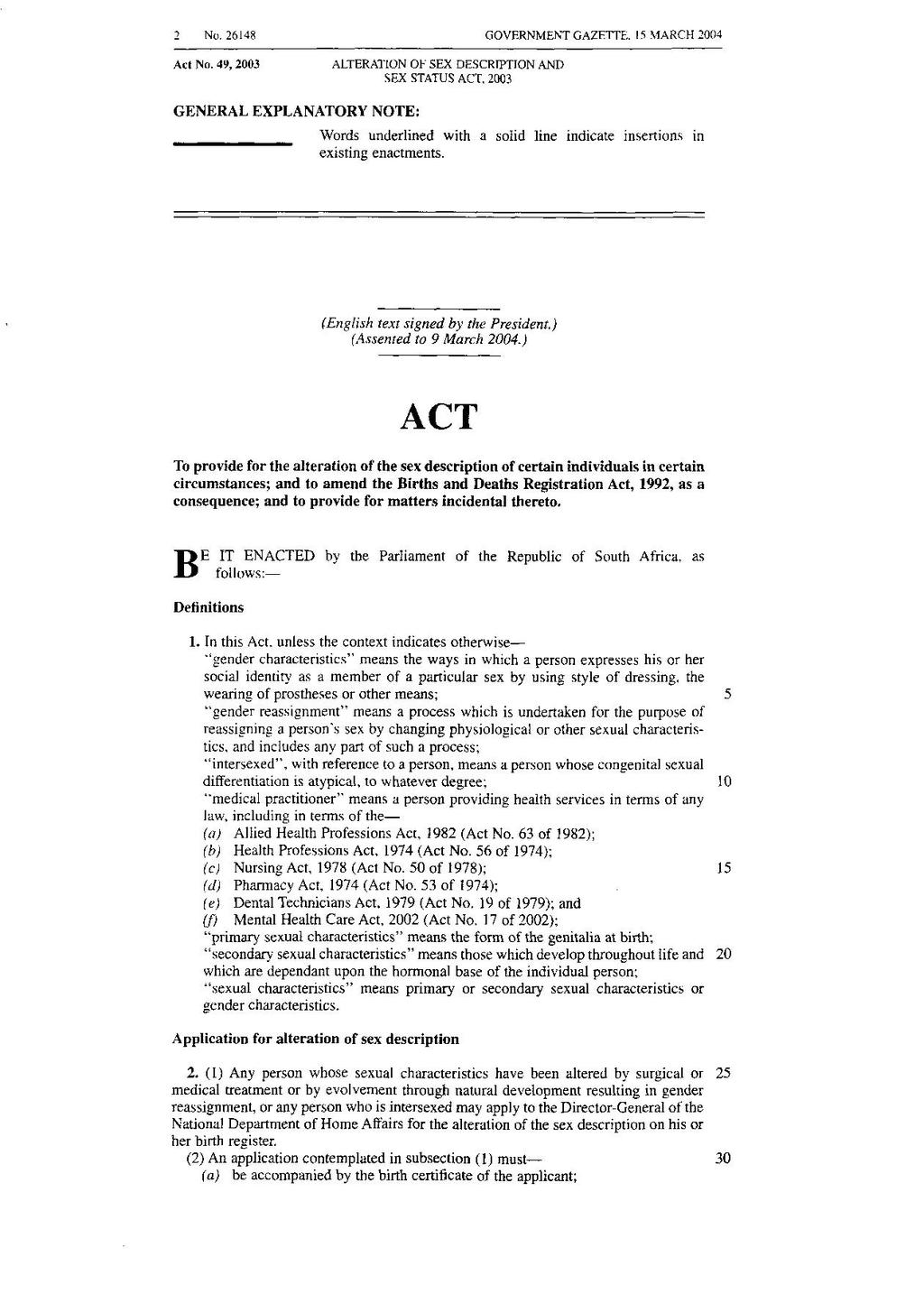 Pagealteration of sex description and sex status act 2003pdf2 pagealteration of sex description and sex status act 2003pdf2 wikisource the free online library aiddatafo Image collections