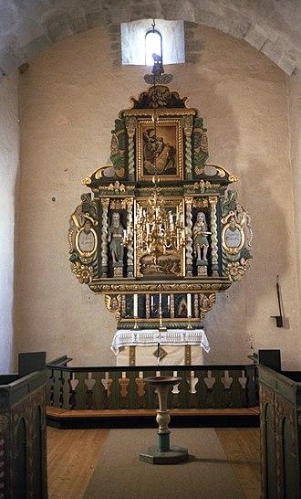 Byneset Church - Image: Altertavlen i Byneset kirke (1980)