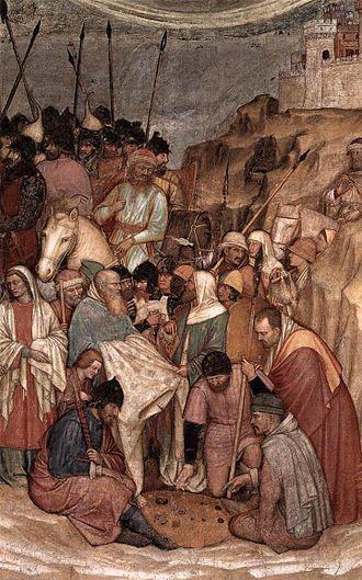 Jacopo d'Avanzi - Detail of Crucifixion Fresco in Chapel of San Giacomo in Padua