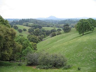 Amador County, California - The Amador County foothills in April 2007