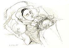 Amalie von Imhoff auf dem Totenbett (1831) (Quelle: Wikimedia)