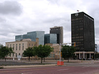 A shot of downtown Amarillo, Texas, U.S.A.