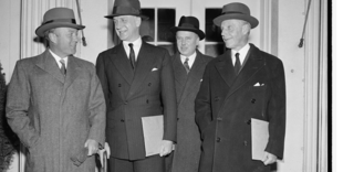 William Phillips (diplomat) - Photograph by Harris & Ewing of American ambassadors after holding a conference with President Franklin D. Roosevelt on December 6, 1938.  From left to right: William C. Bullitt, Sumner Welles, Hugh R. Wilson, and Phillips.