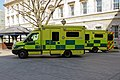 Ambulances at Barts, St Bartholomew's Hospital, City of London, England.jpg