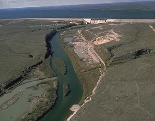 reservoir on the Rio Grande at its confluence with the Devils River in Texas and Mexico