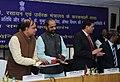 Ananthkumar launching the 'Pharma Jan Samadhan', in New Delhi on March 12 2015. The Minister of State for Chemicals & Fertilizers, Shri Hansraj Gangaram Ahir is also seen.jpg