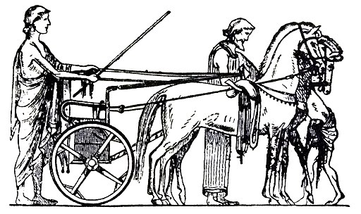 Ancient Greek racing chariot