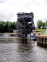 Anderton Boat Lift on the River Weaver