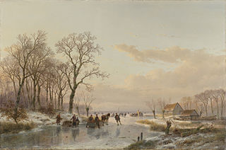 A Frozen Canal near the River Maas