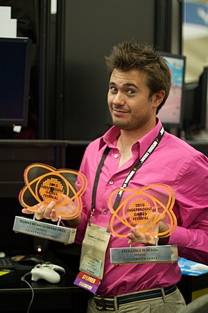 Andy Schatz - Andy Schatz after winning two awards for Monaco at the Independent Games Festival in 2010